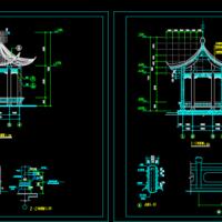 某地六角亭子设计CAD图