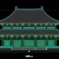 某地两层框架结构重檐庑殿仿古建筑施工图(大雄宝殿)
