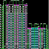 某18层高层住宅楼建筑设计图纸(带人防平时自行车库)