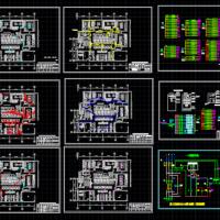 某地大型厨房平面布置图及电气设计图(精典详细)