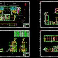 300Mw机组脱硫装置废气处理CAD图