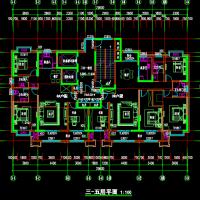 27层高层住宅楼建筑设计图纸(三合一前室一梯两户)