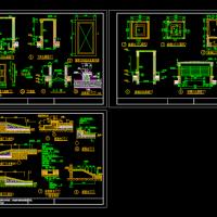 屋面排烟口 风井 采光井等建筑节点CAD详图