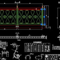 10种不锈钢栏杆CAD图纸