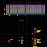 钢丝网围栏CAD详图