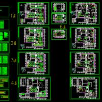 石家庄市图书馆空调设计CAD施工图
