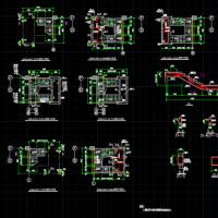 三跑楼梯结构设计CAD施工图