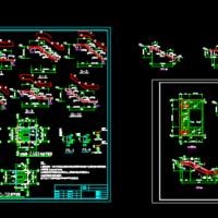 两套最新设计三跑楼梯结构设计施工图