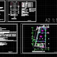 变配电室七氟丙烷预制灭火系统设计图(气体灭火)