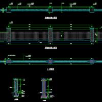 简单实用的通透式围墙CAD图纸