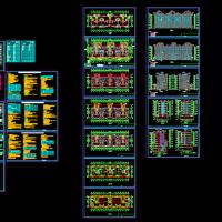 吉林六层带电梯住宅楼建筑设计图纸