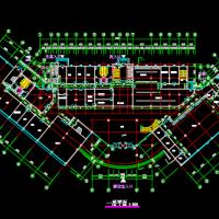 十层框架结构酒店建筑设计施工图纸(三角形布置)