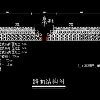 路面断面图(CAD图纸)