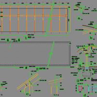 阳光板自行车棚CAD图