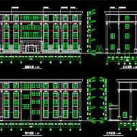 四层简欧风格酒店建施图