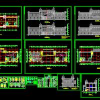 三层欧式酒店建筑设计CAD图