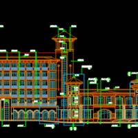 某七层框架结构欧式酒店建筑设计方案图