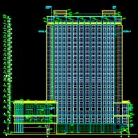 某20层酒店建筑全套CAD图立面漂亮