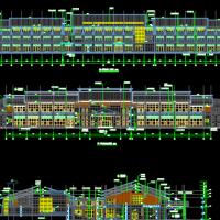旅游区会议中心建筑及结构设计CAD图纸