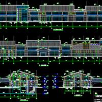 旅游区酒店康体中心建筑及结构设计图纸