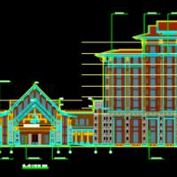 东北某国际温泉城宾馆建筑图