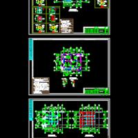 框架结构一层门房结构设计图纸