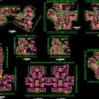 南方塔楼户型平面CAD图纸