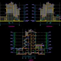 江苏万科某多层住宅楼带电梯建筑图(无锡太湖新城)