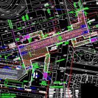 地铁站平面规划设计CAD图