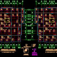 11层框架结构住宅楼筏板基础结构图(带上柱墩)