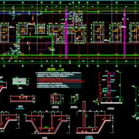 某地多层框架结构筏板基础结构施工图纸