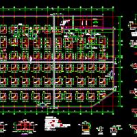 某商业综合楼筏板基础结构施工图(带水池墙配筋)