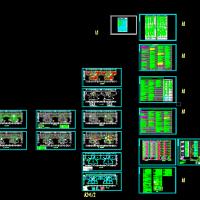 贵州某18层住宅楼电气设计图纸(双消防电梯)[原创]