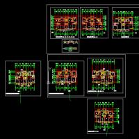 某小区多个单电梯小高层住宅楼户型图