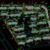 某小高层住宅小区总平面规划设计图纸