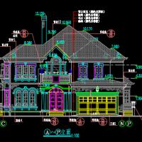 22.65X17.55两层别墅建筑设计图纸( 浦东世纪花园二期)