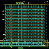 13层框架结构办公楼建结水电暖全套图(地下人防车库)