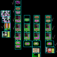 34层商住楼电气工程量计算实例(含图纸 EXCEL计算表)