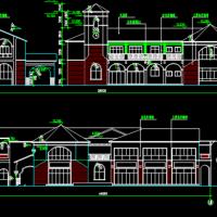 2层框架结构欧式游客服务中心建筑方案图
