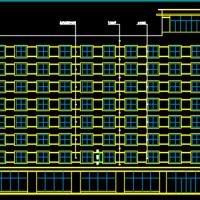 8层框架结构综合办公楼建筑施工图纸