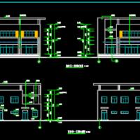 地上两层商业地下车库建筑图纸(含汽车坡道详图)