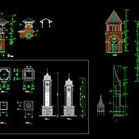 建筑设计之-钟楼设计CAD详图