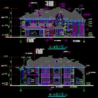 24.6X17.44两层坡屋顶别墅建筑设计图纸