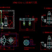 常用水泵安装尺寸设计图