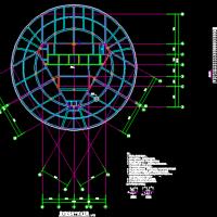 圆曲面钢结构屋顶设计图