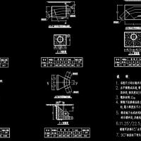 市政管线镇墩CAD设计图