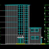六层框架结构商业楼建筑结构施工图纸(含计算书)