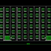 4898平米六层框架结构宿舍楼全套设计(手算计算书)