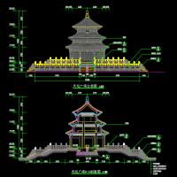 天坛广场和祈年殿的景观设计CAD施工详图