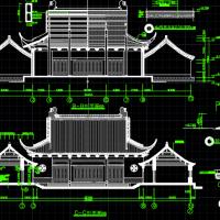 财神殿全套施工图纸